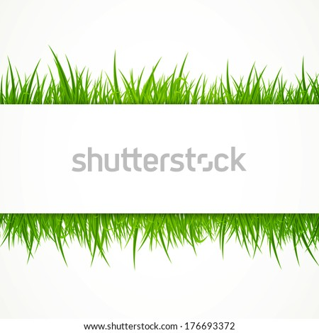 Vector Illustration of an Abstract Background with Grass - stock vector