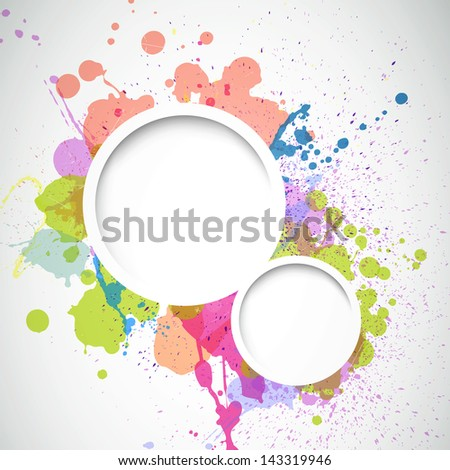 Vector Illustration of an Abstract Background with Splashes - stock vector