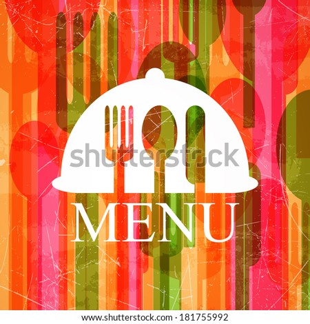 Vector Illustration of an Abstract Cutlery Background - stock vector