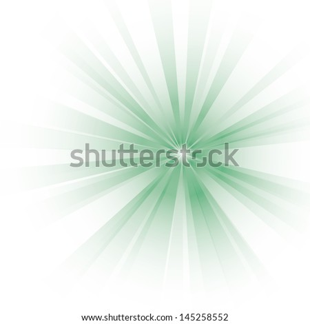 Vector illustration of an abstract green light. - stock vector