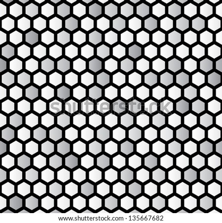Vector illustration of an abstract hexagon background. - stock vector