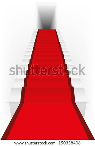vector illustration of an abstract ladder with shadow eps 10 / ladder vector
