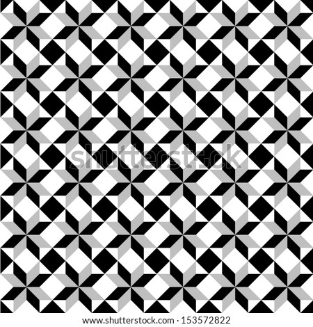 Vector illustration of an abstract seamless pattern - stock vector