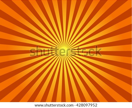 Vector illustration of an abstract sunrise. Know as beams, rays, radiating lines or starburst, sunburst background - stock vector