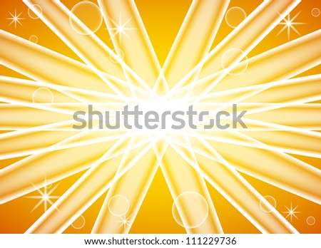 vector illustration of an abstract yellow background with sun splash - stock vector