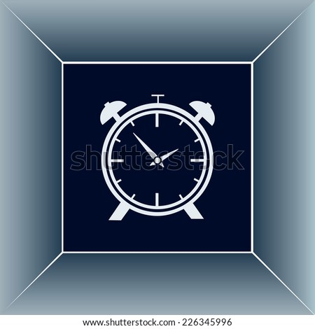 Vector illustration of an alarm clock  - stock vector