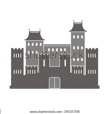 Vector illustration of an ancient building. - stock vector