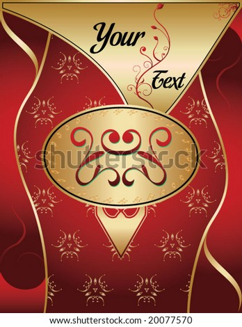 vector illustration of an elegant golden background for menu cards and other advertising purposes - stock vector