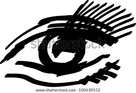 vector illustration of an eye isolated on white