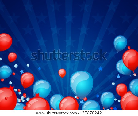 Vector Illustration of an Independence Day Background - stock vector
