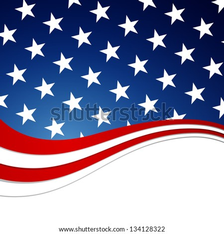 Vector Illustration of an Independence Day Design - stock vector