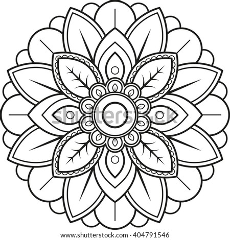 Vector illustration of an indian mandala - stock vector