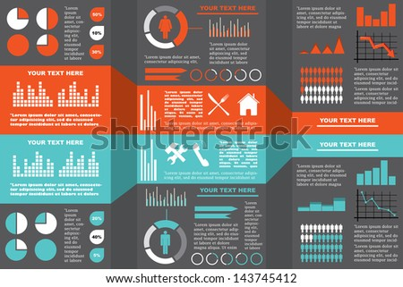 Vector illustration of an infograph. - stock vector