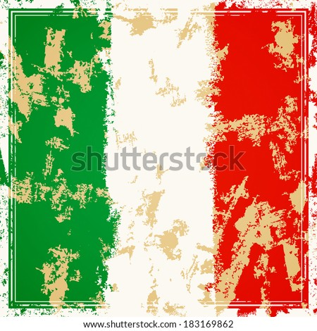 Vector Illustration of an Italian Background - stock vector