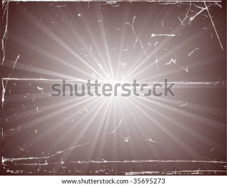 vector illustration of an old photography representing sunburst - stock vector