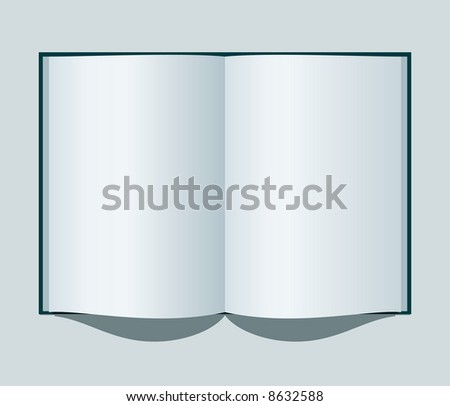 vector illustration of an open notebook with clear sheets - stock vector