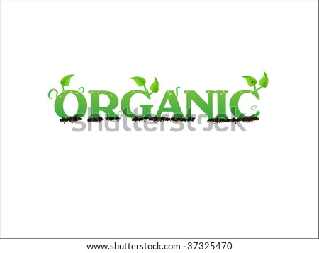 Vector illustration of an organic label - stock vector