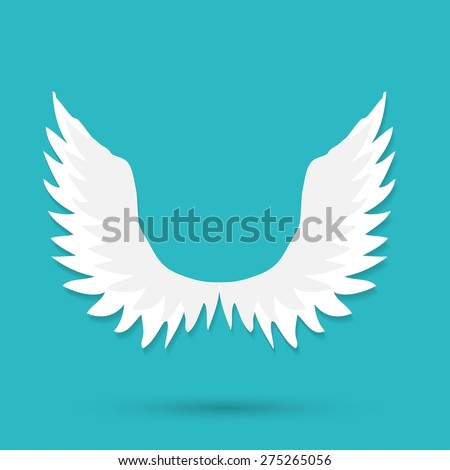 Vector illustration of angel icon - stock vector