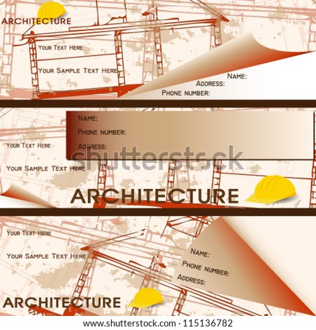 Vector illustration architectural business card stock vector 2018 vector illustration of architectural business card reheart Images