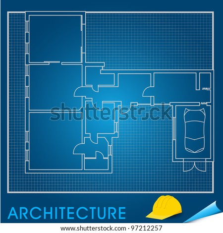 Vector illustration of architectural plans - stock vector