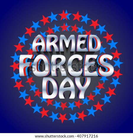 Vector illustration of Armed forces day.