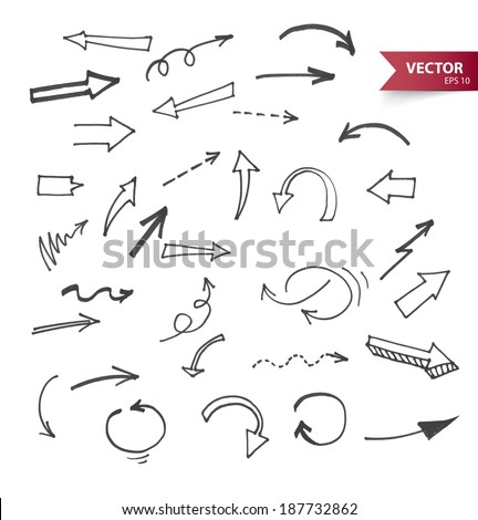 Vector illustration of Arrows - stock vector