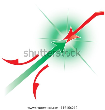 Vector illustration of arrows symbolizing growth, isolated on white background - stock vector