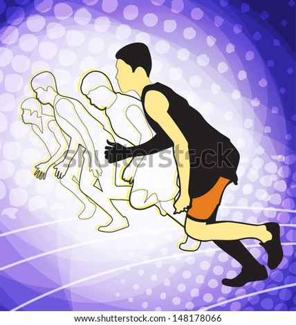 vector illustration of athletics background - stock vector