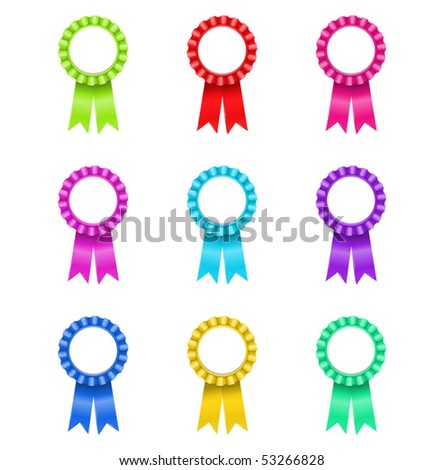 vector illustration of Award Rosette (only gradients) - stock vector