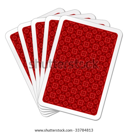 vector illustration of back playing cards - stock vector