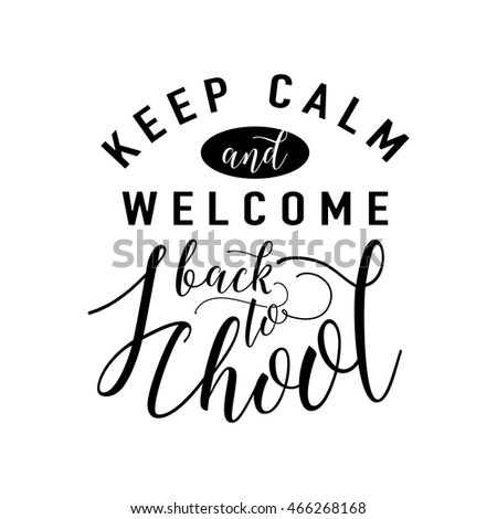 Vector Illustration Of Back To School Template With Lettering And  Typography Element Isolated On White Background