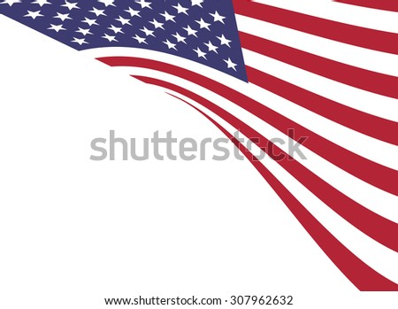 Vector illustration of background of American flag
