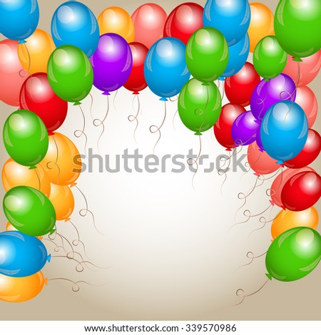 Vector illustration of Background of balloons - stock vector