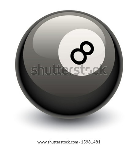 Vector illustration of 8 ball.  Billiards or fortune teller. - stock vector