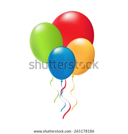 Vector illustration of balloon - stock vector