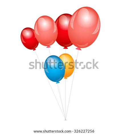 Vector illustration of balloons background - stock vector