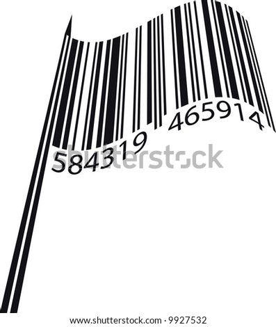 Vector illustration of bar code flag