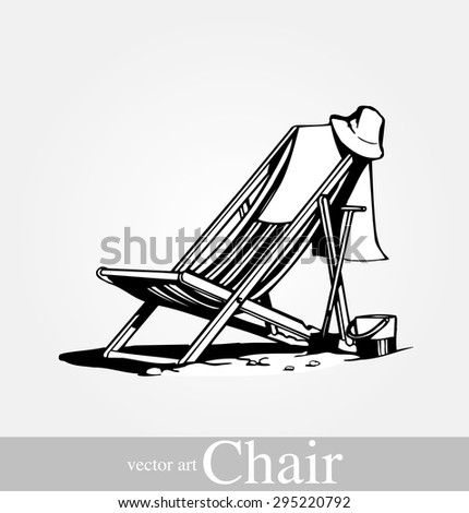 Beach chair stock vectors vector clip art shutterstock for Breezy beach chaise