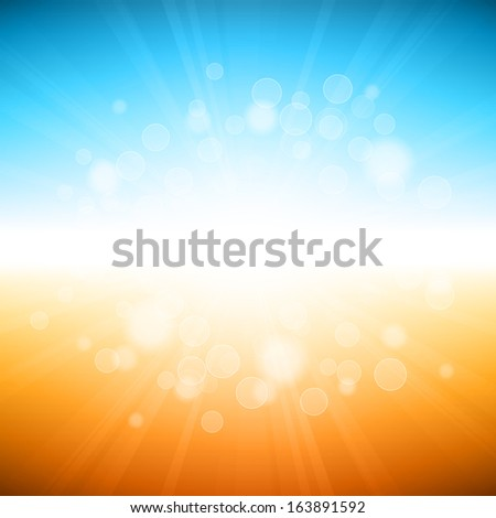 Vector illustration of beach summer holiday background.