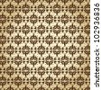 Vector illustration of beautiful brown retro wallpaper - stock vector