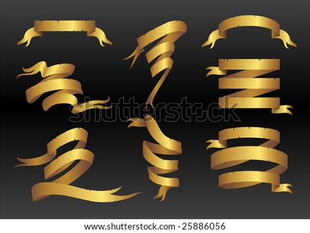 Vector illustration of  beautiful, elegant ribbon icons. You can decorate your website, application or presentation with it.
