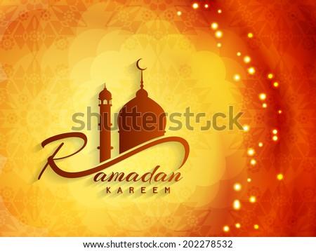 Vector illustration of beautiful religious ramadan kareem background design. - stock vector