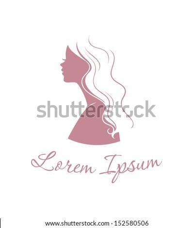 Vector illustration of Beautiful woman logo - stock vector