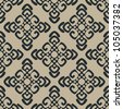 Vector illustration of beige seamless damask pattern - stock