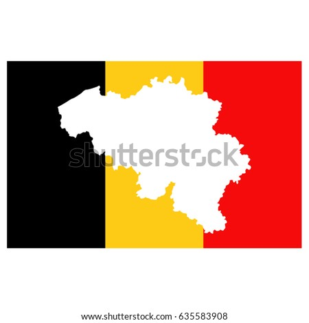vector illustration belgium flag map stock vector 635583908