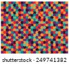 Vector illustration of big colored jigsaw puzzle, separate pieces - stock vector