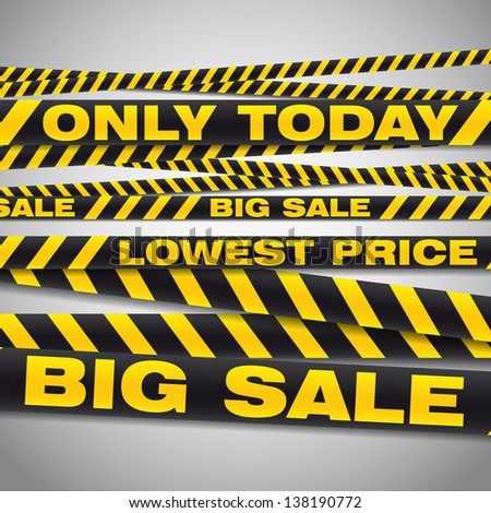 Vector illustration of big sale poster with different element - stickers and various text