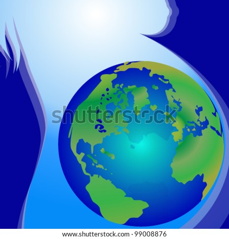 Vector illustration of Birth Of The Earth - stock vector