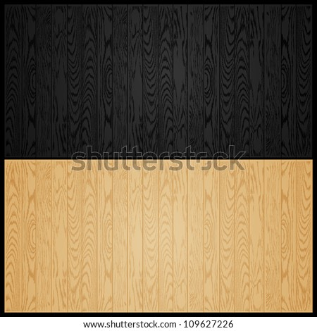vector illustration of black and light wooden texture background - stock vector