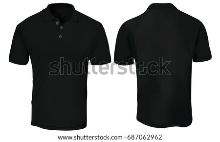 Black Tshirt Design Template Front Back Stock Vector 25832191 ...